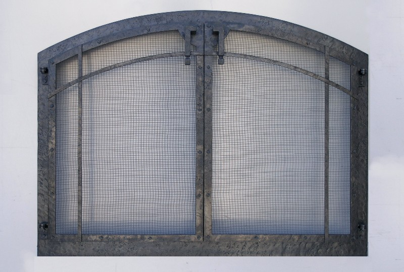 Arched Lines Fire Screen