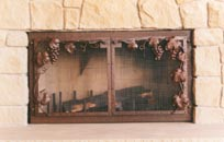 Grapes  Fire Screen