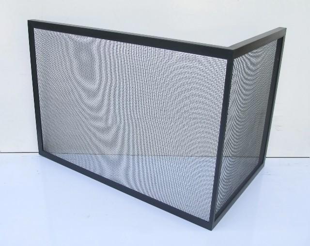 free standing gallery rh custom firescreens com L-shaped Fireplace Screens L-shaped Fireplace Screens