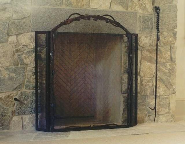 Three Panel Vines Free Standing© Custom Fireplace Screen